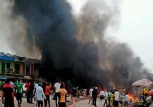 Pazar yerine bombalı saldırı: 15 ölü