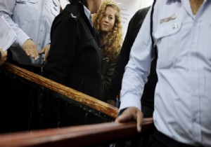 'Filistin'in cesur kızı' Tamimi'nin duruşması yine ertelendi