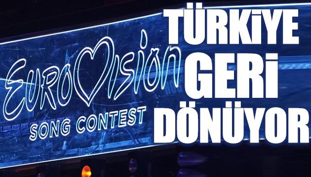 Türkiye Eurovision'a geri dönüyor