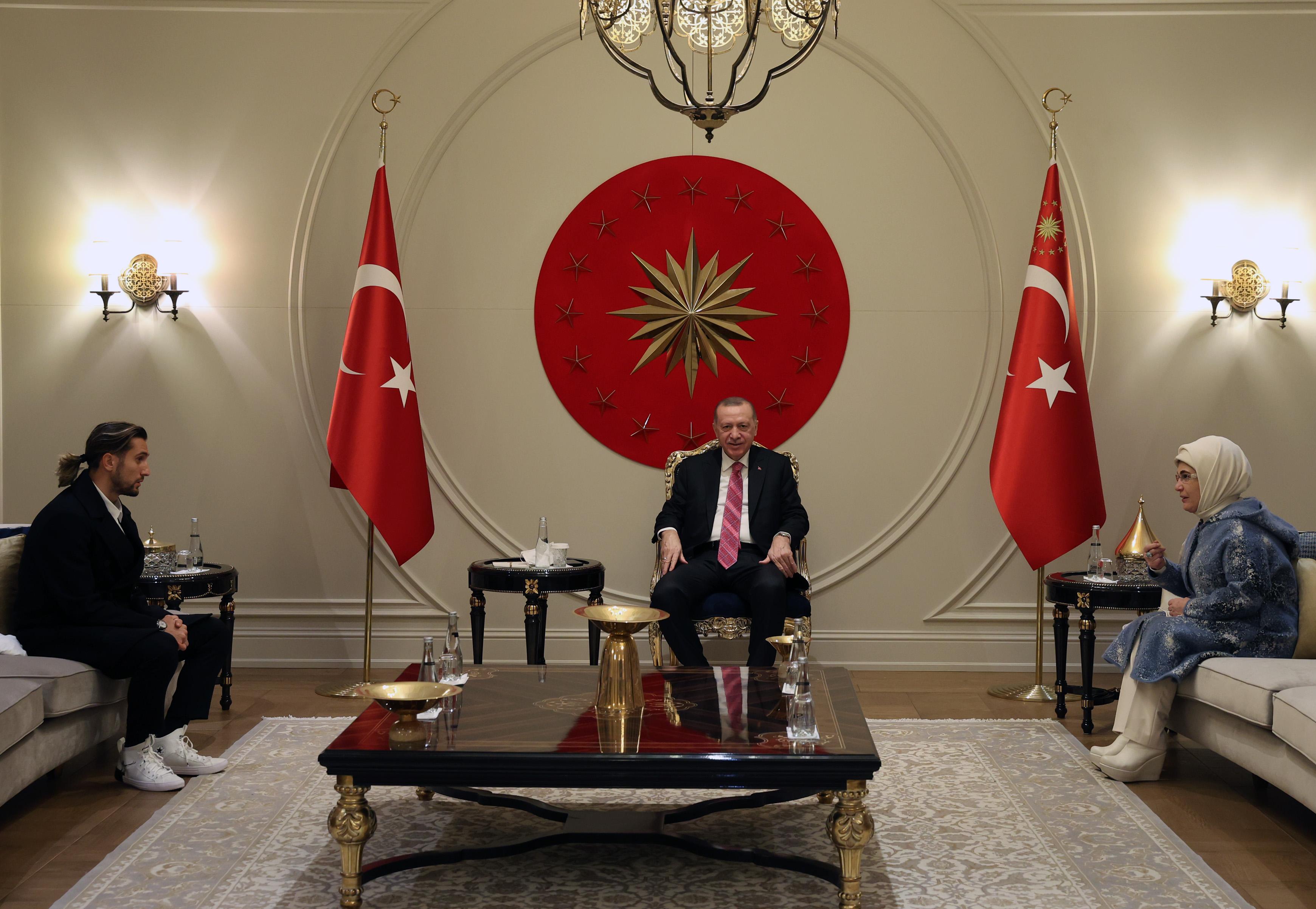 Erdoğan, Yusuf Yazıcı yı kabul etti