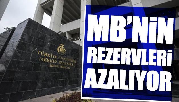 MB'nin rezervleri azalıyor