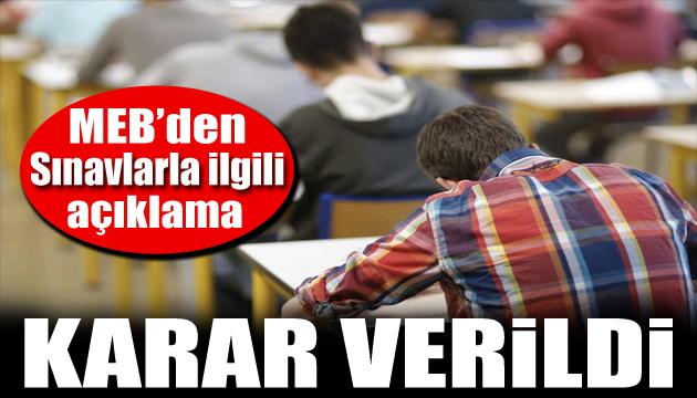 Milli Eğitim Bakanlığı duyurdu: Sınavlar ertelendi
