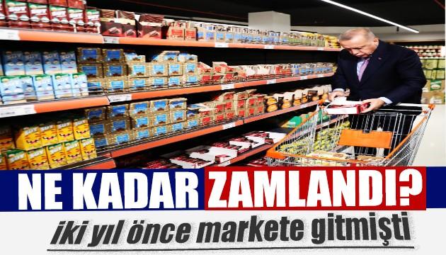 Market fiyatları cüzdan eritiyor: İşte Erdoğan'ın alışveriş sepeti...