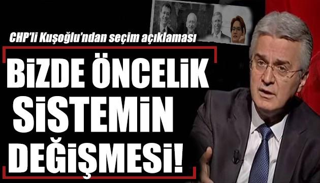 CHP'li Bülent Kuşoğlu: Bizde öncelik sistemin değişmesidir!