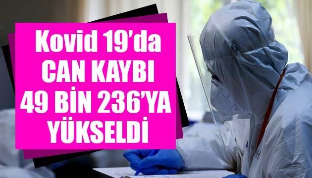 Sağlık Bakanlığı, Kovid 19'da son verileri açıkladı: Can kaybı 49 bin 236'ya yükseldi