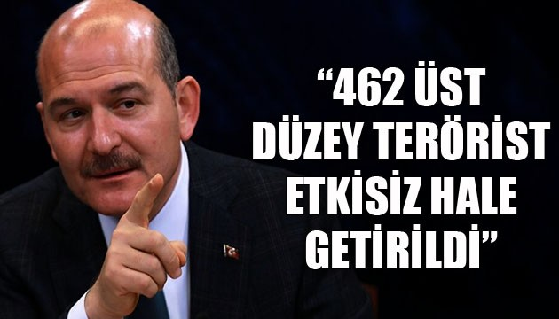 Bakan Soylu açıkladı: Sözde üst düzey 462 terörist etkisiz hale getirildi