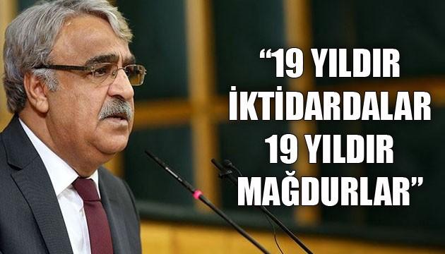HDP Eş Genel Başkanı Sancar: 19 yıldır iktidardalar, 19 yıldır mağdurlar
