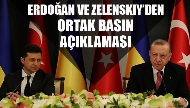 Erdoğan ve Zelenskiy'den ortak basın açıklaması