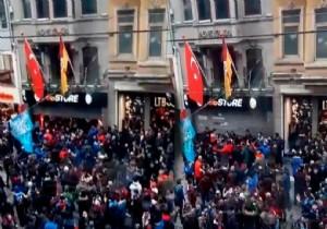 Trabzonspor taraftarından GS Store mağazasına saldırı
