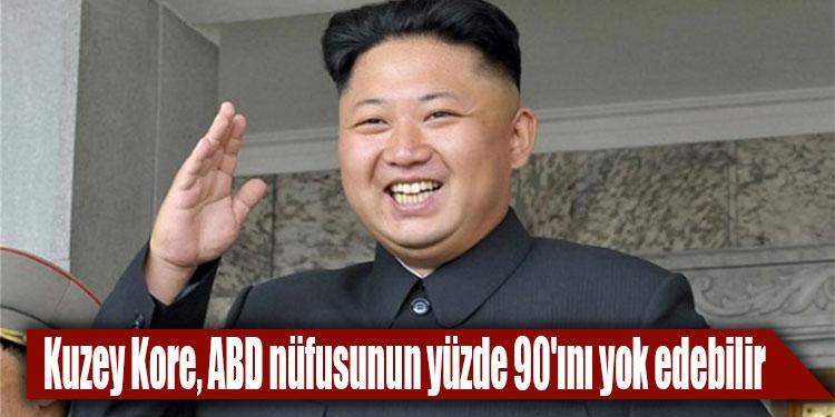 Kuzey Kore, ABD nüfusunun yüzde 90ını yok edebilir