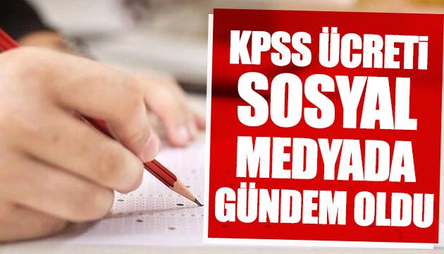 KPSS ücreti iddiası sosyal medyada gündem oldu
