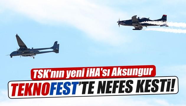 TSK'nın yeni İHA'sı Aksungur, TEKNOFEST'te gösteri yaptı