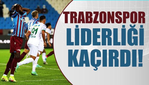 Trabzonspor liderliği kaçırdı!